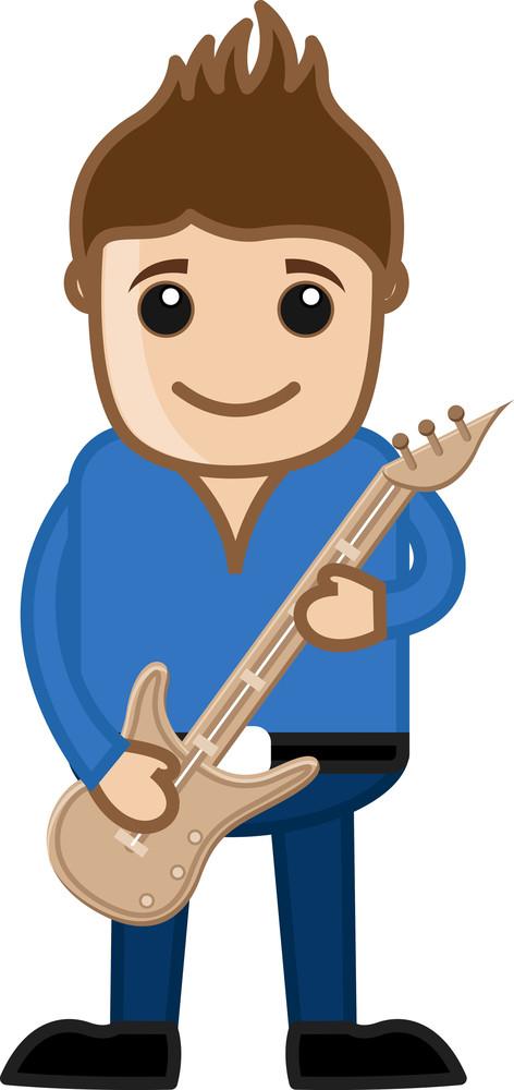 Playing Guitar - Business Cartoons