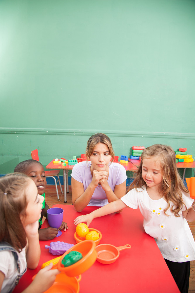 Playtime on the classroom