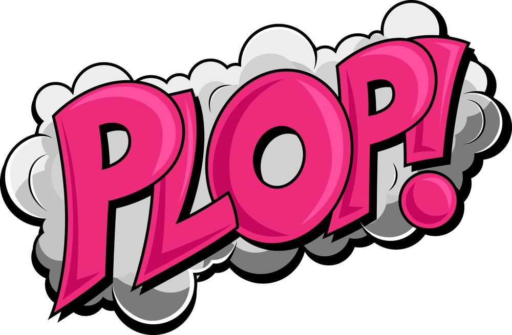 Plop - Comic Cloud Expression Vector Text