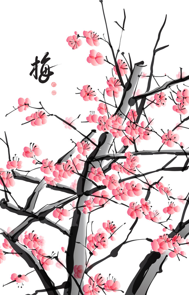 Plum Blossom. Translation: Plum