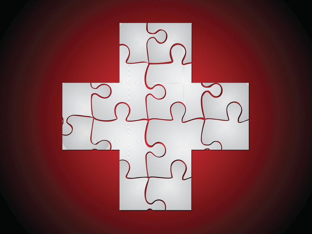 Plus Medical Puzzle Sign