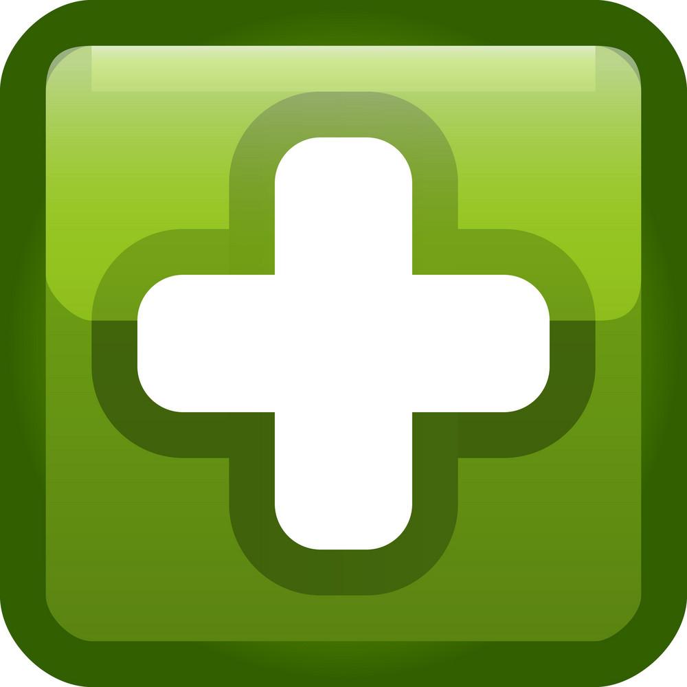 Plus Sign Green Tiny App Icon