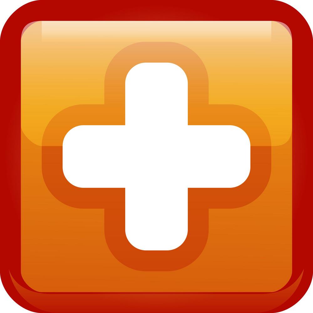 Plus Sign Orange Tiny App Icon