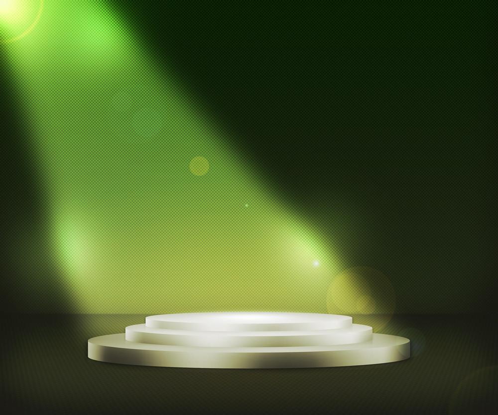 Podium Spotlight Green Background