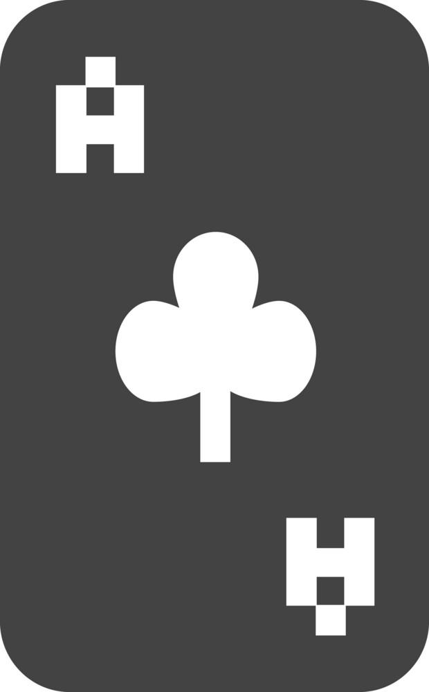 Poker 1 Glyph Icon