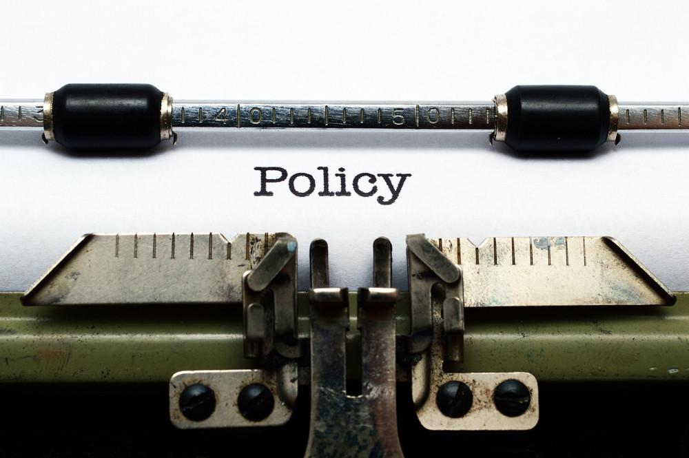 Policy On Typewriter