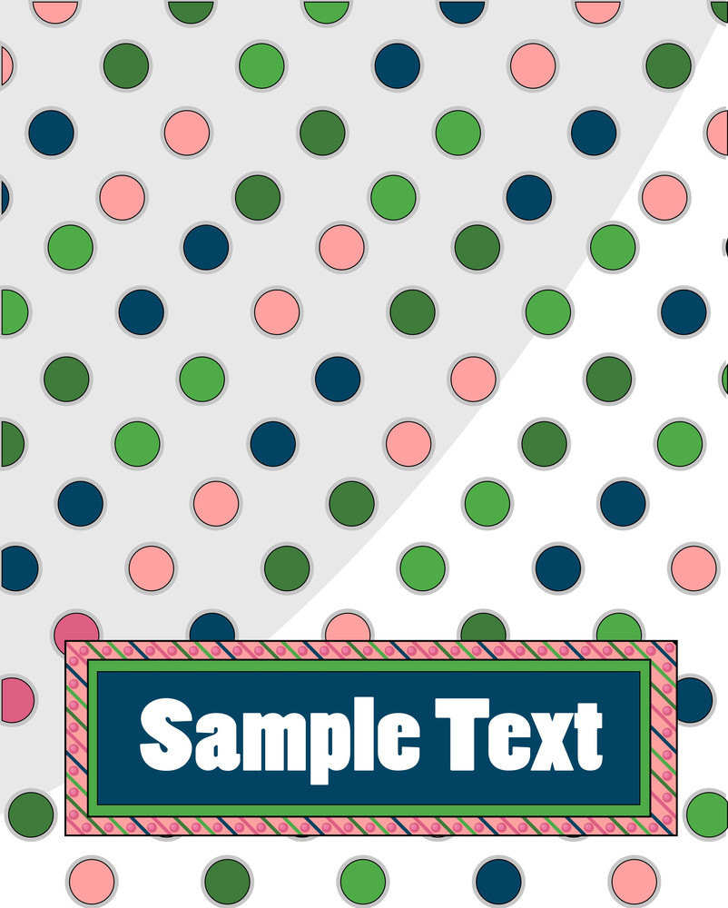 Polka Dots Vector Background