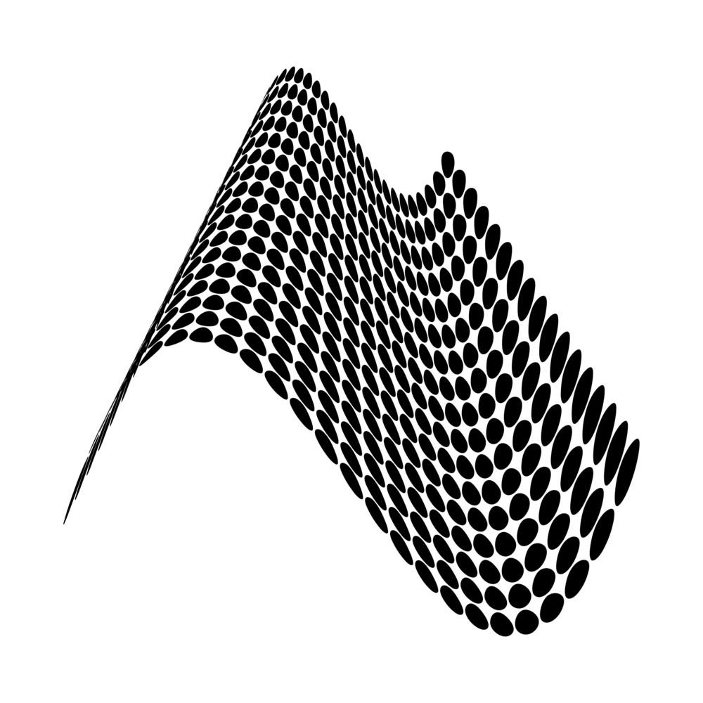 Polka Dots Wavy Design