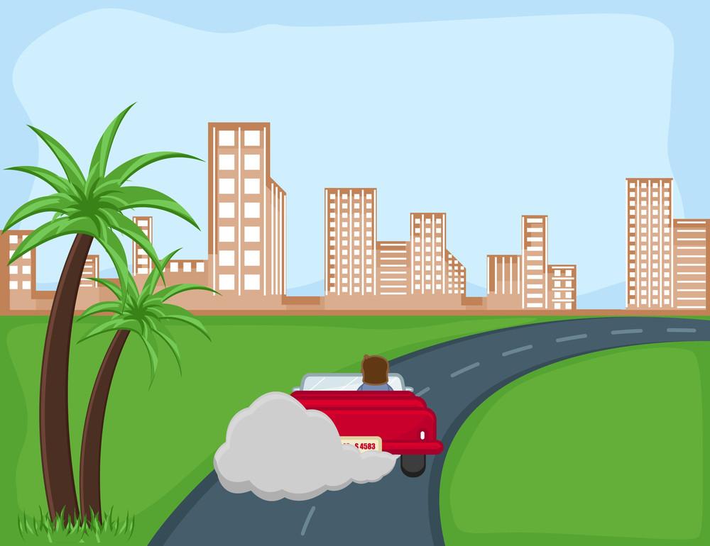 Pollution - Cartoon Background Vector