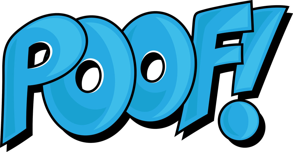 Poof - Comic Expression Vector Text