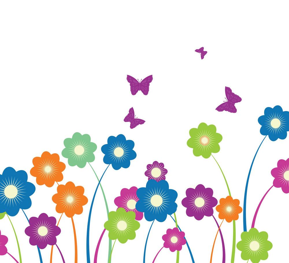 Pop Art Floral Background