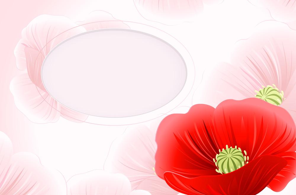 Poppy Romantic Abstract. Vector