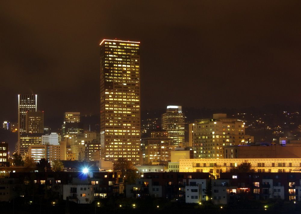 Portland  City At Night