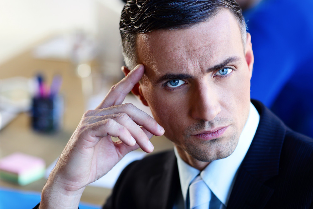 Portrait of a confident serious businessman