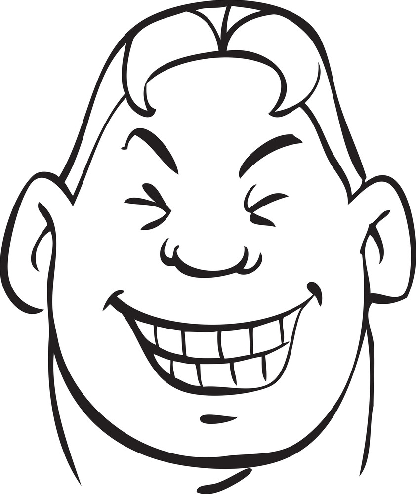 Portrait Of A Laughing Face Expression.