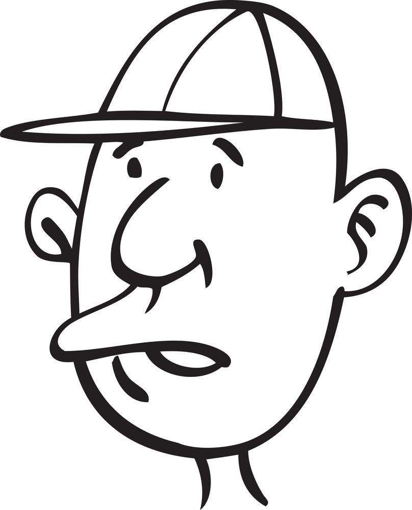 Portrait Of A Old Man Cartoon.