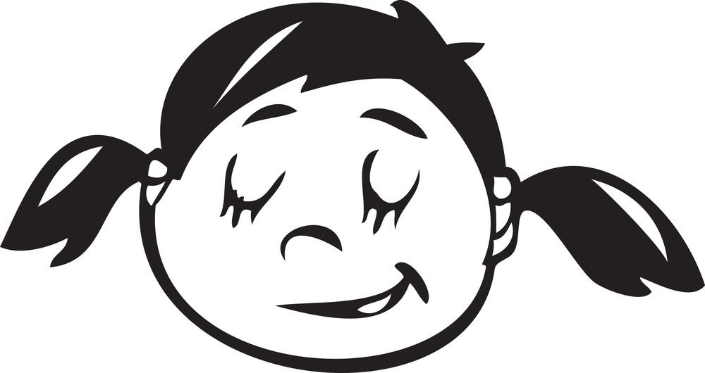 Portrait Of A Sad Facial Expression Of A Girl.