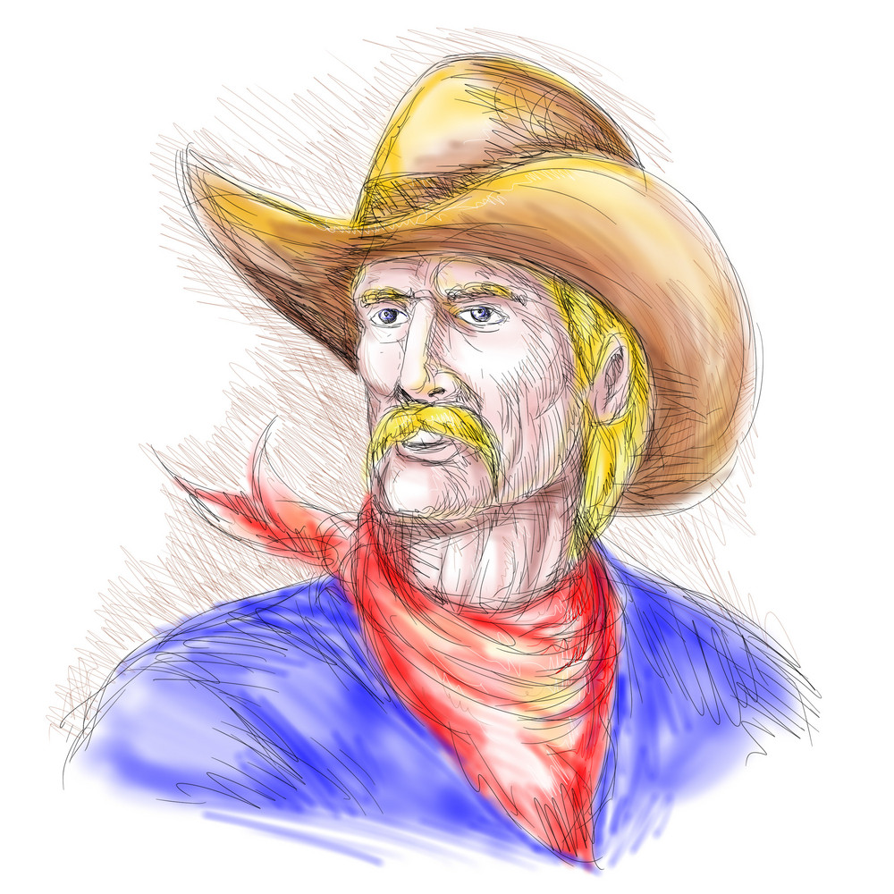 Portrait Of An American Cowboy