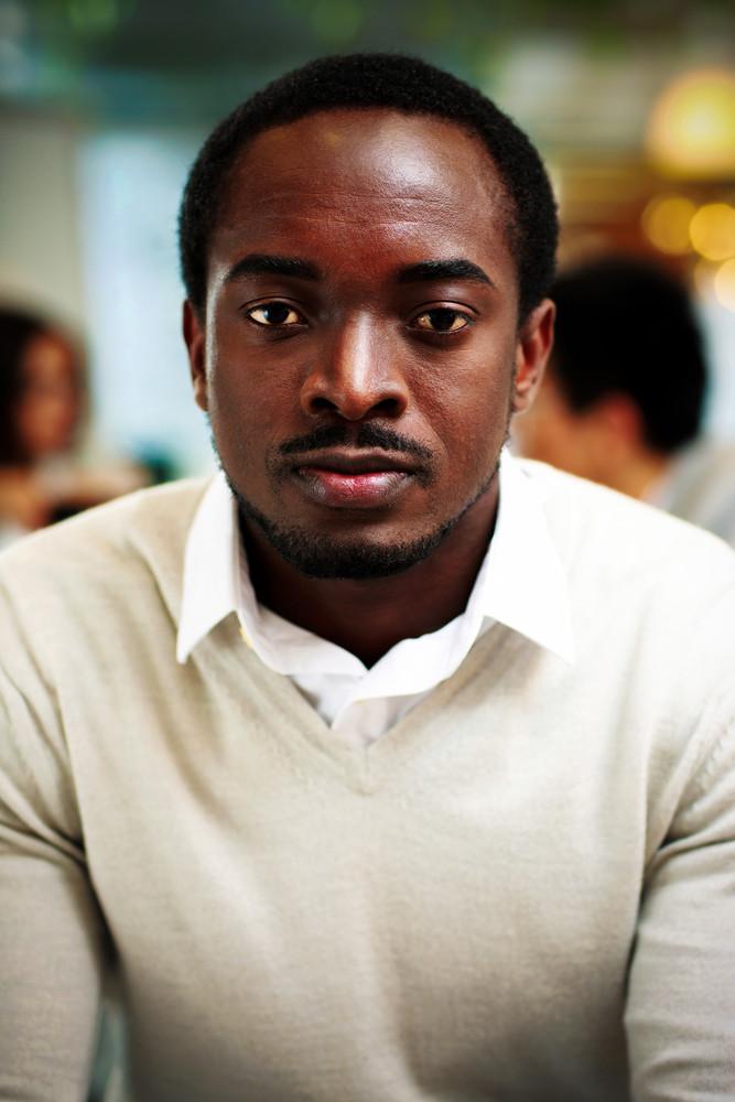 Portrait of handsome african businessman