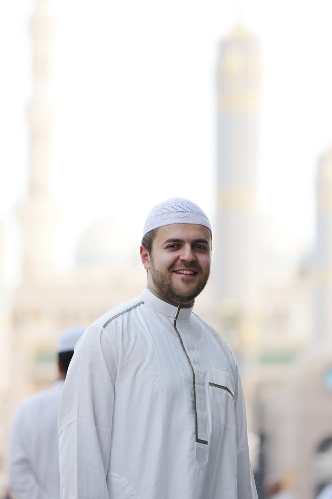 Portrait of Muslim Arabic man