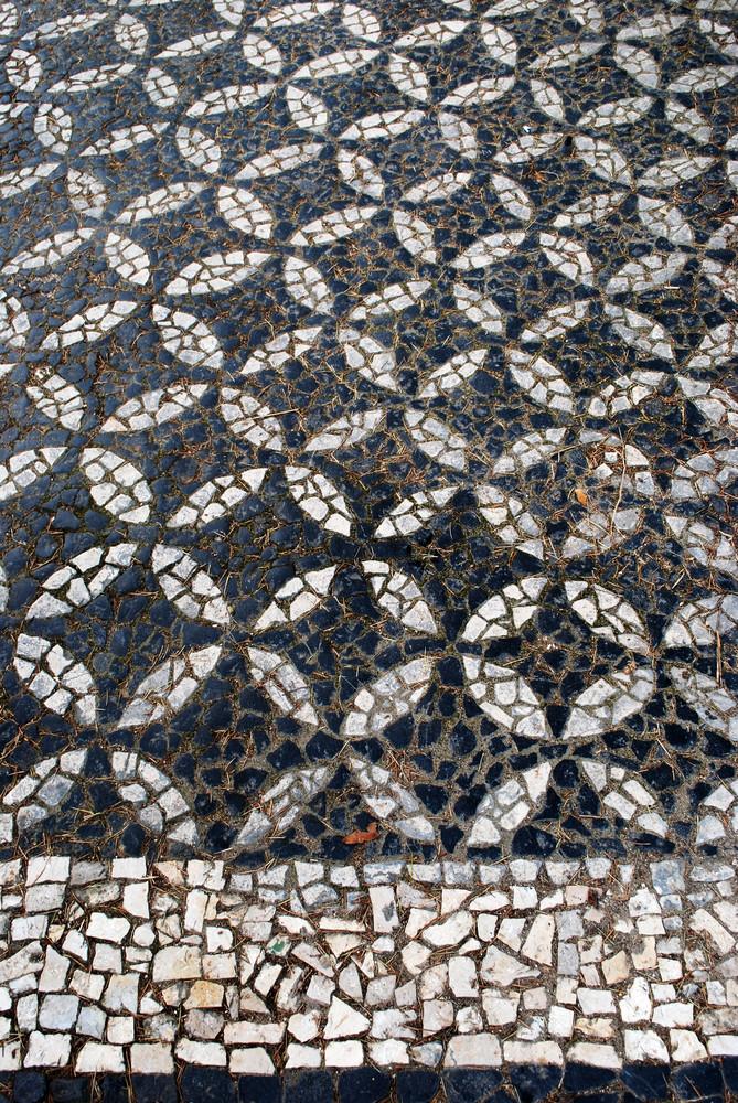 Portuguese Sidewalk Pavement