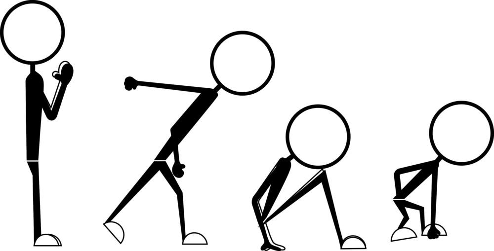 Poses Of Cartoon Stick Figures