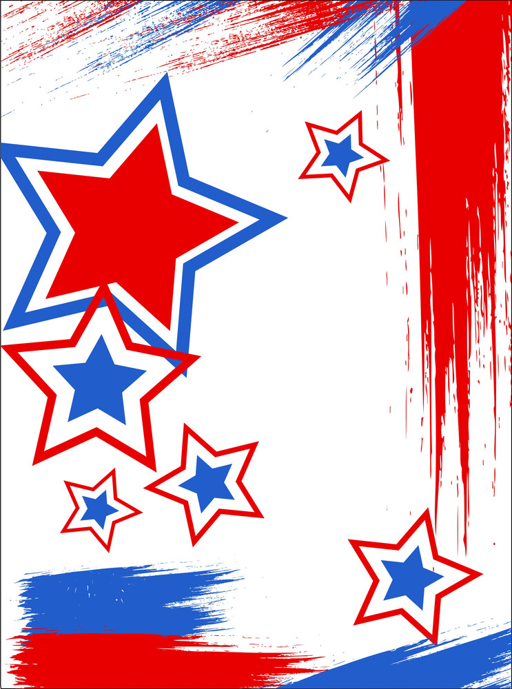 Poster 4th Of July Vector Theme Design