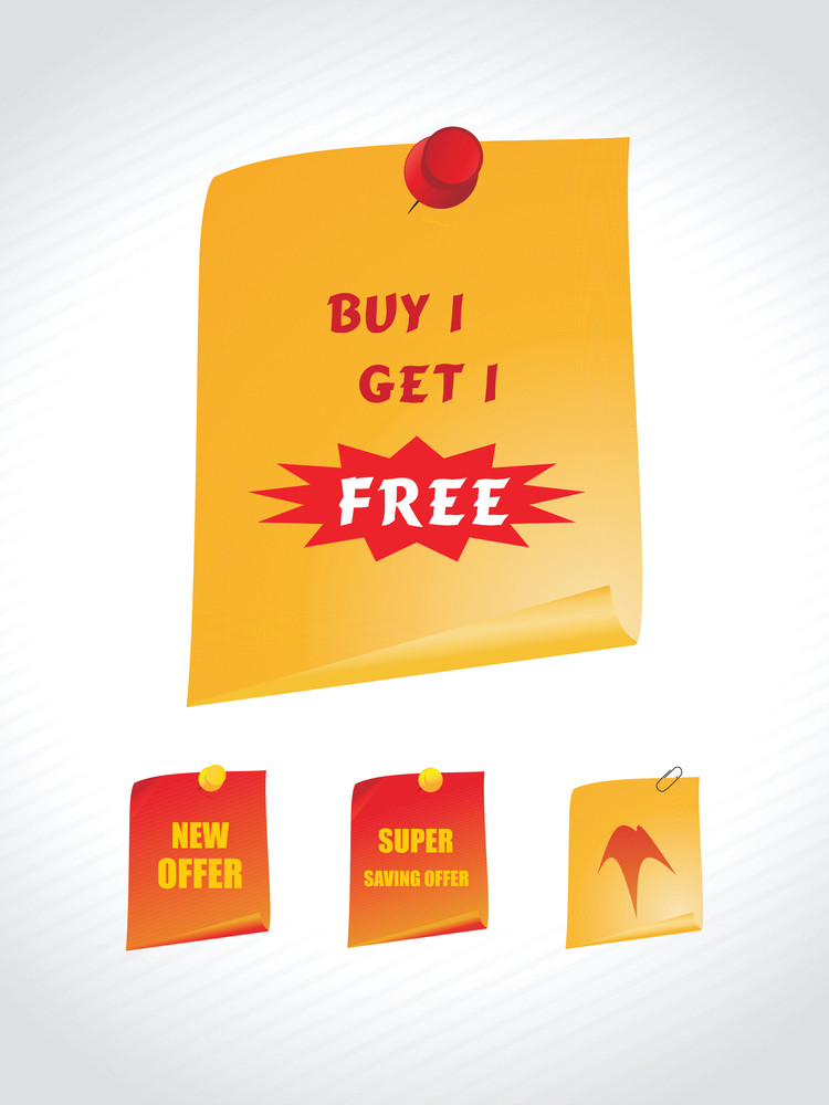 Poster For Buy And Get Free In Yellow