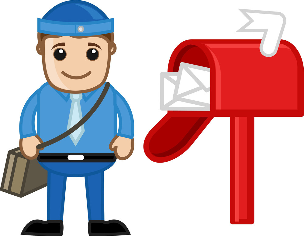 Postman - Vector Character Cartoon Illustration