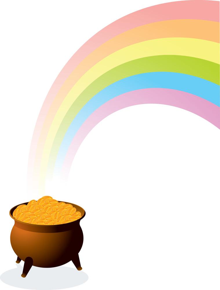 Pot Of Gold. Vector.