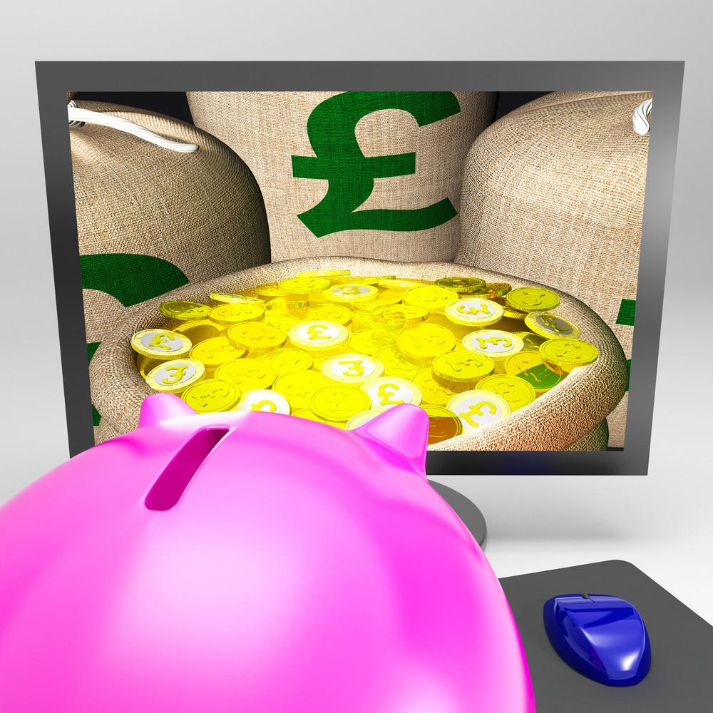 Pound Sacks Shows Sterling Money Financing Profit