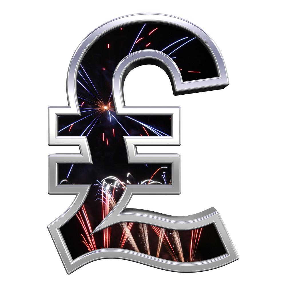 Pound Sign From Firework With Chrome Frame Alphabet Set