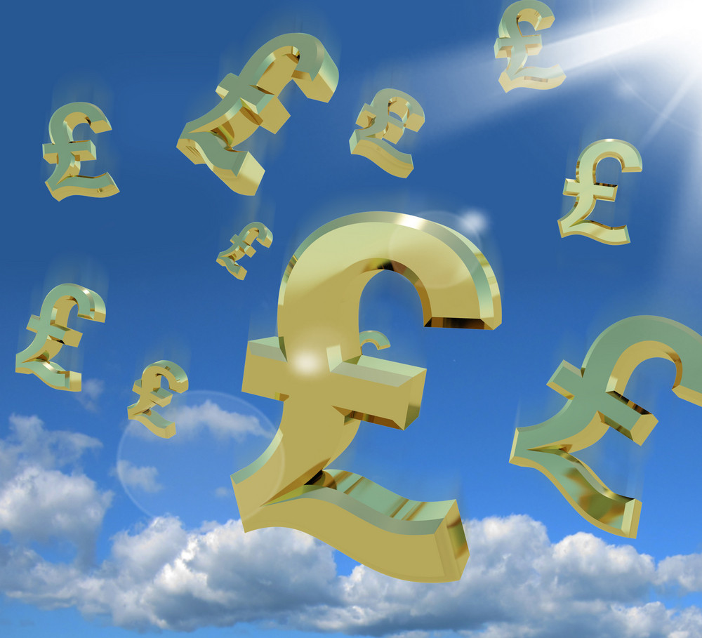 Pound Signs In The Sky As A Sign Of Money