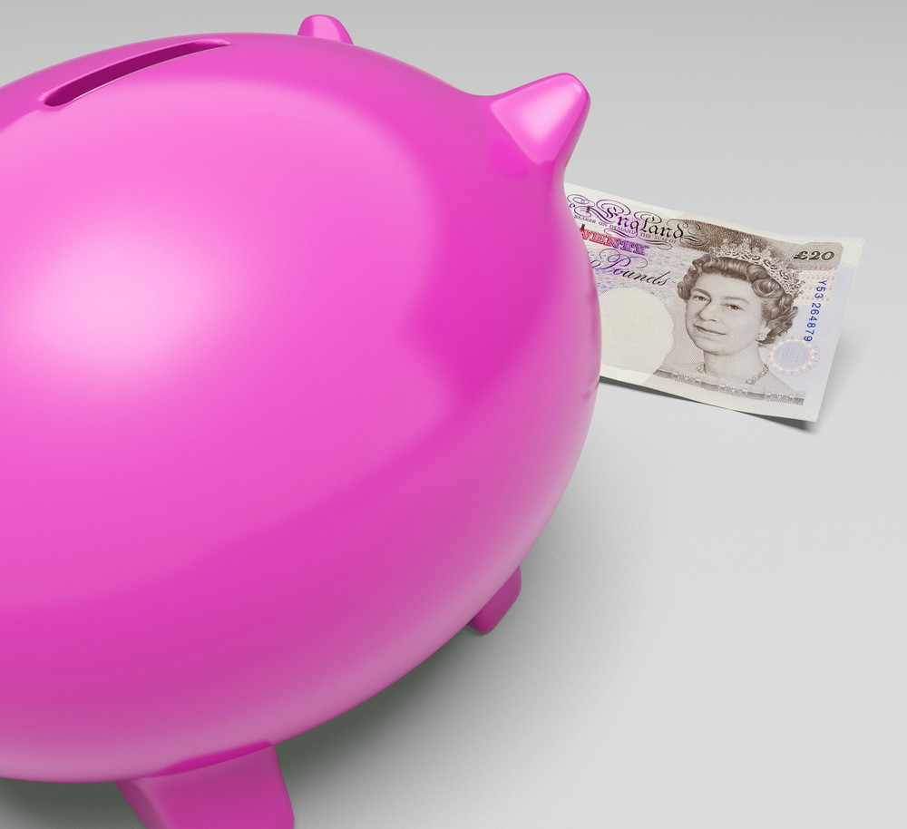 Pounds Piggy Shows Profit And Interest Saved