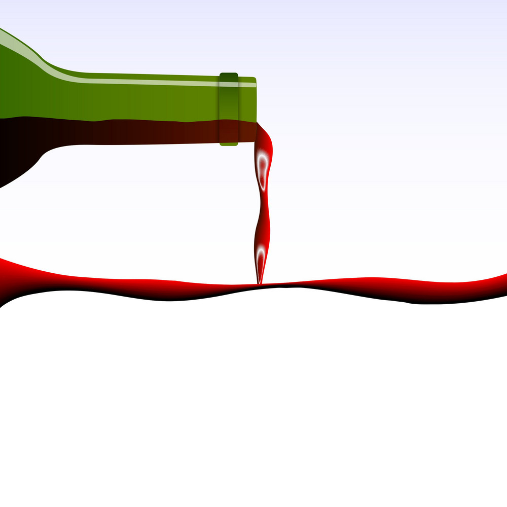 Pouring Wine Concept