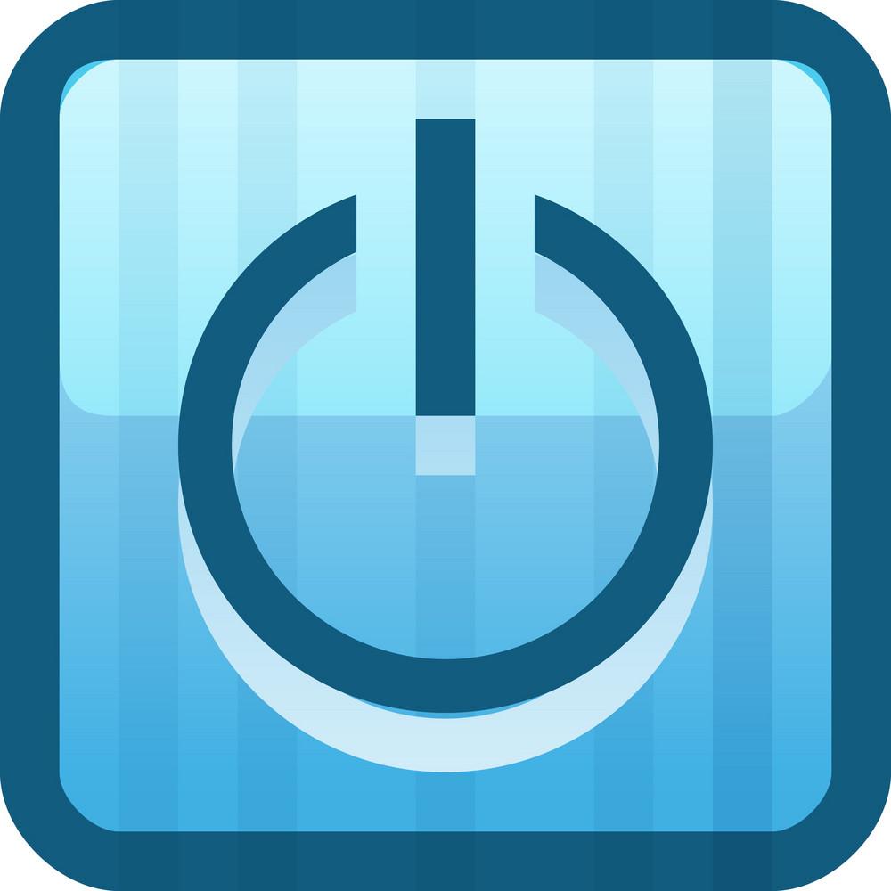 Power Button Blue Tiny App Icon