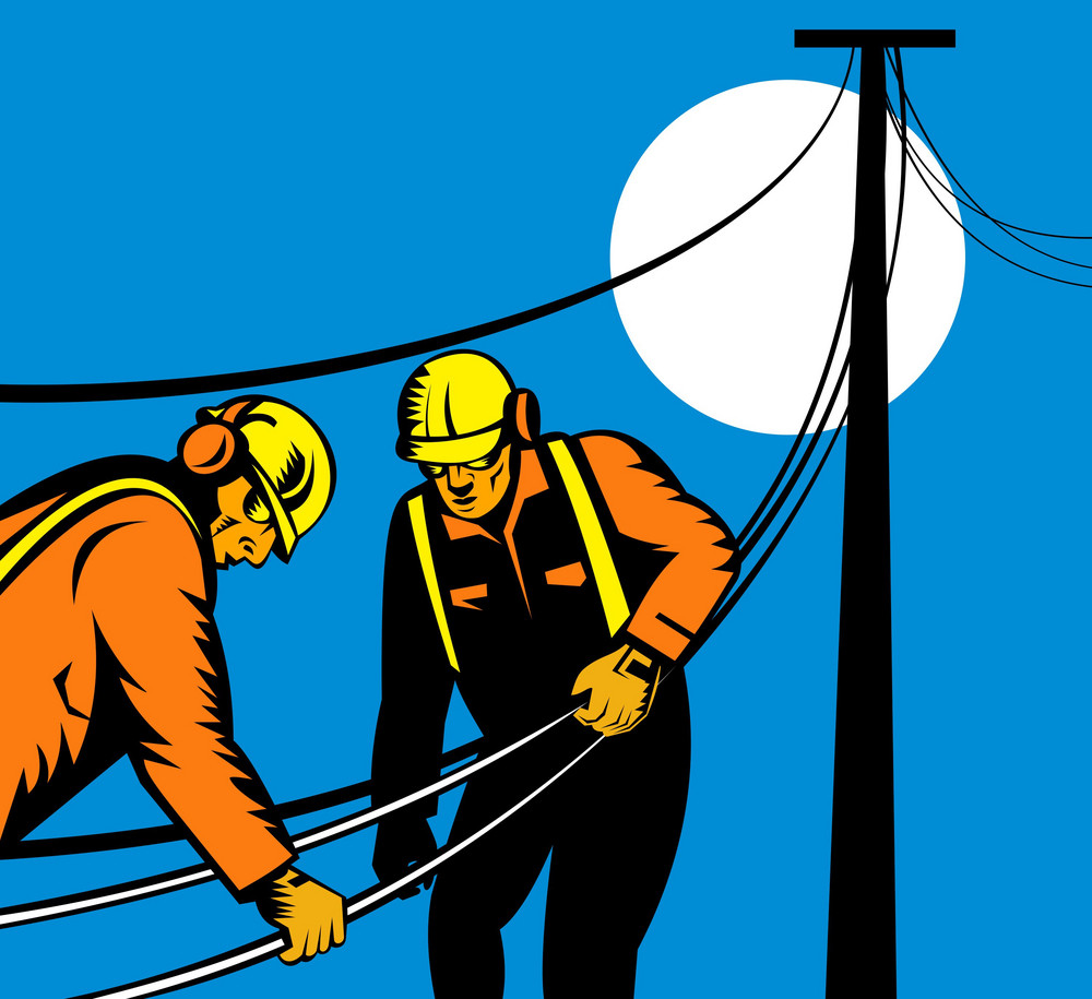 Power Lineman Telephone Repairman Electrician