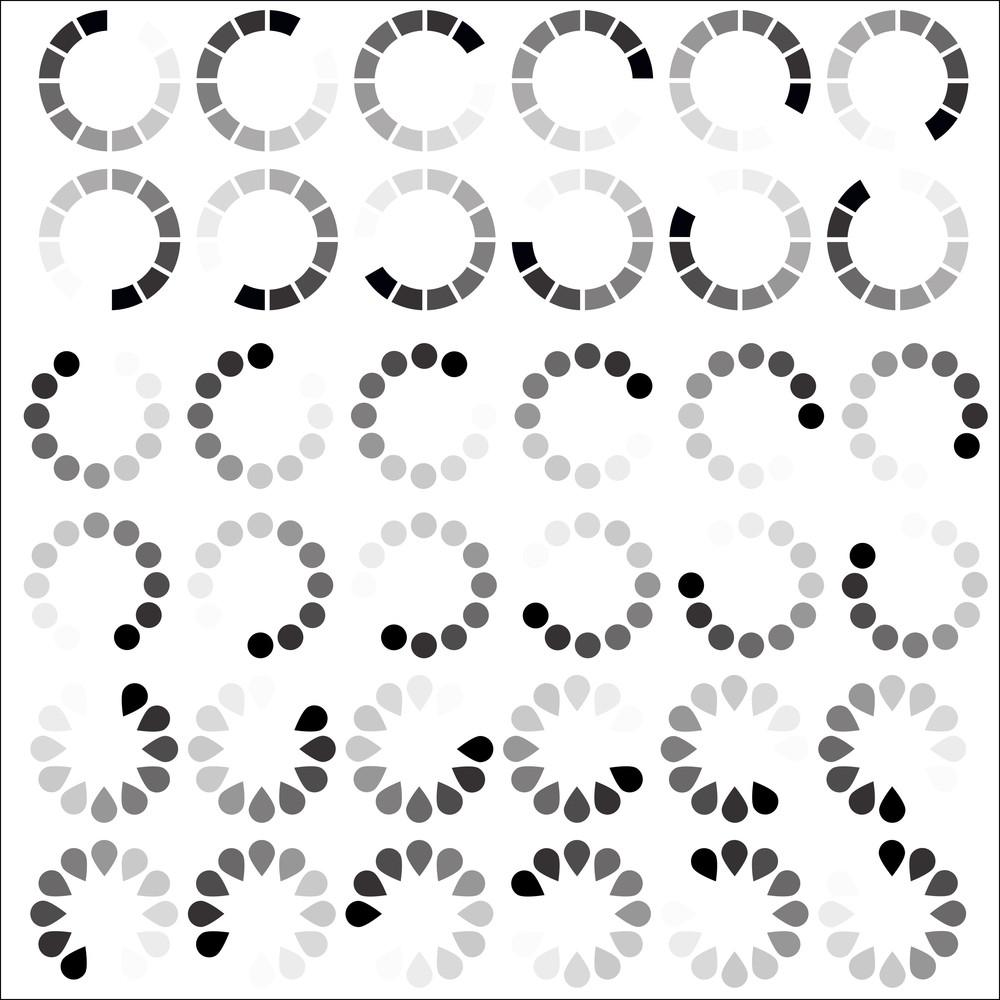 Preloaders Icons Vectors