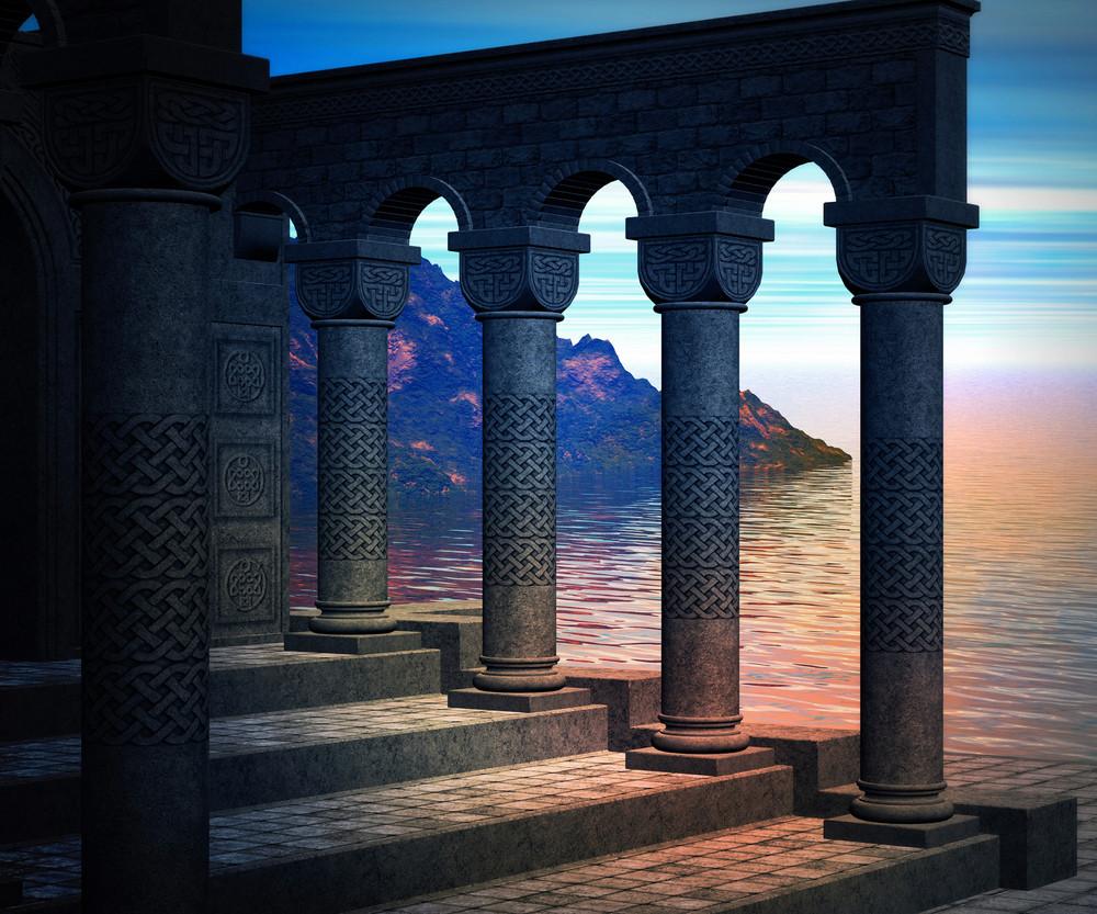 Premade Columns Background