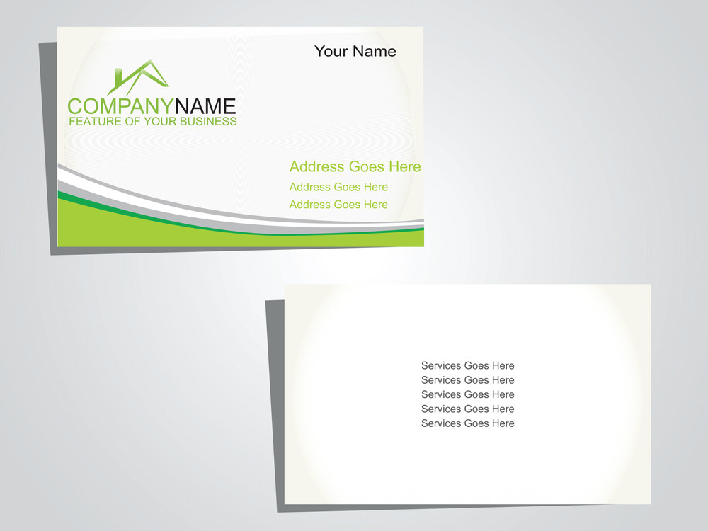 Presentation Of Business Card On Sea Green Background