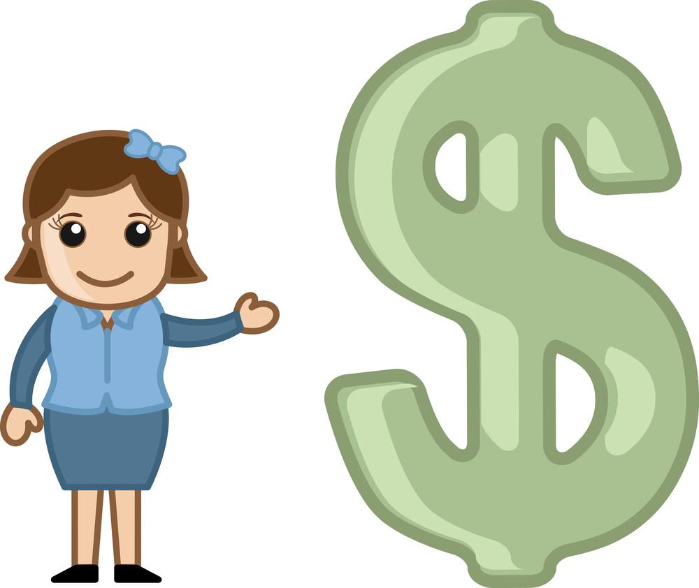 Dollar Signs Money Clip Art Stock Vector  Illustration of