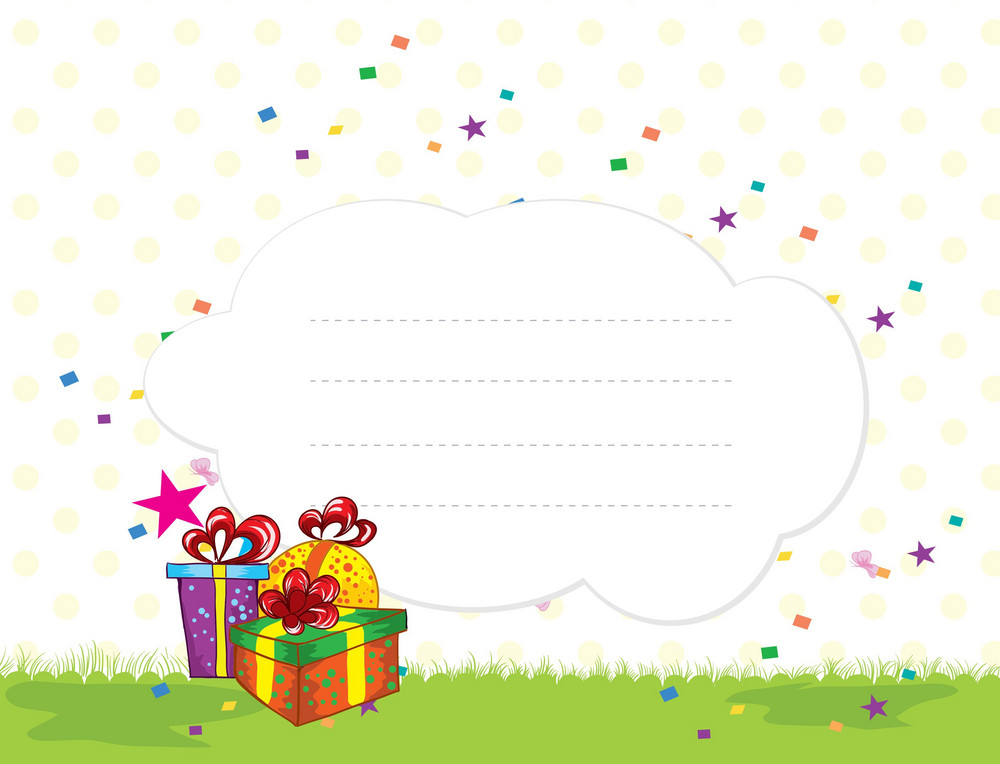 Presents With Stars Vector Illustration