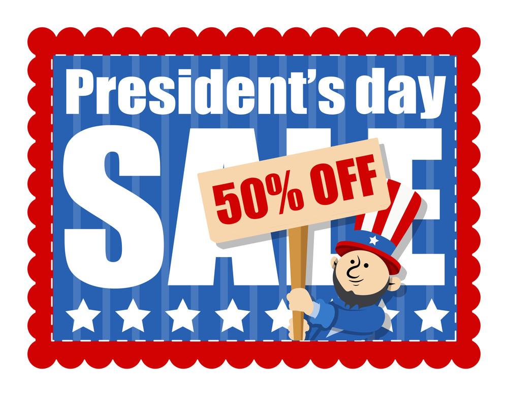 Presidents Day Sale Banner Vector Illustration