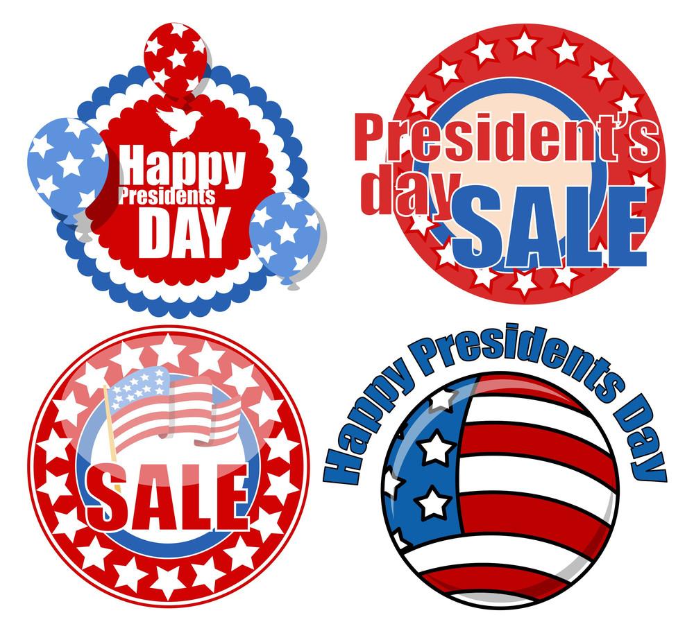 Presidents Day Seal Badges Circular Vector