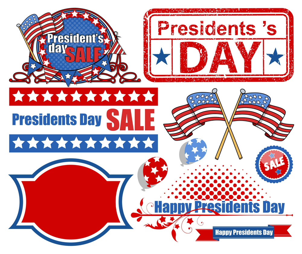 Presidents Day Vector Elements