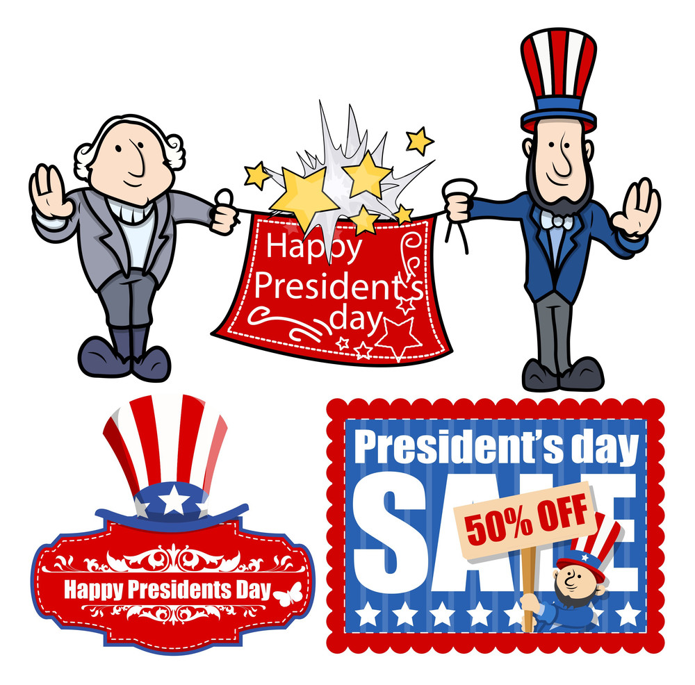 presidents day vector set graphics royalty free stock image