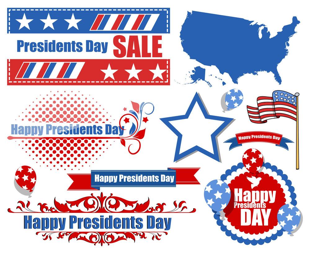Presidents Day Vector Set