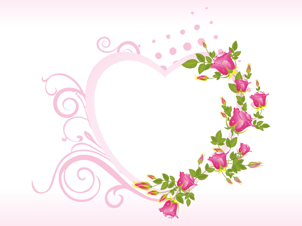 Pretty Pink Heart Shape Frames Royalty-Free Stock Image - Storyblocks