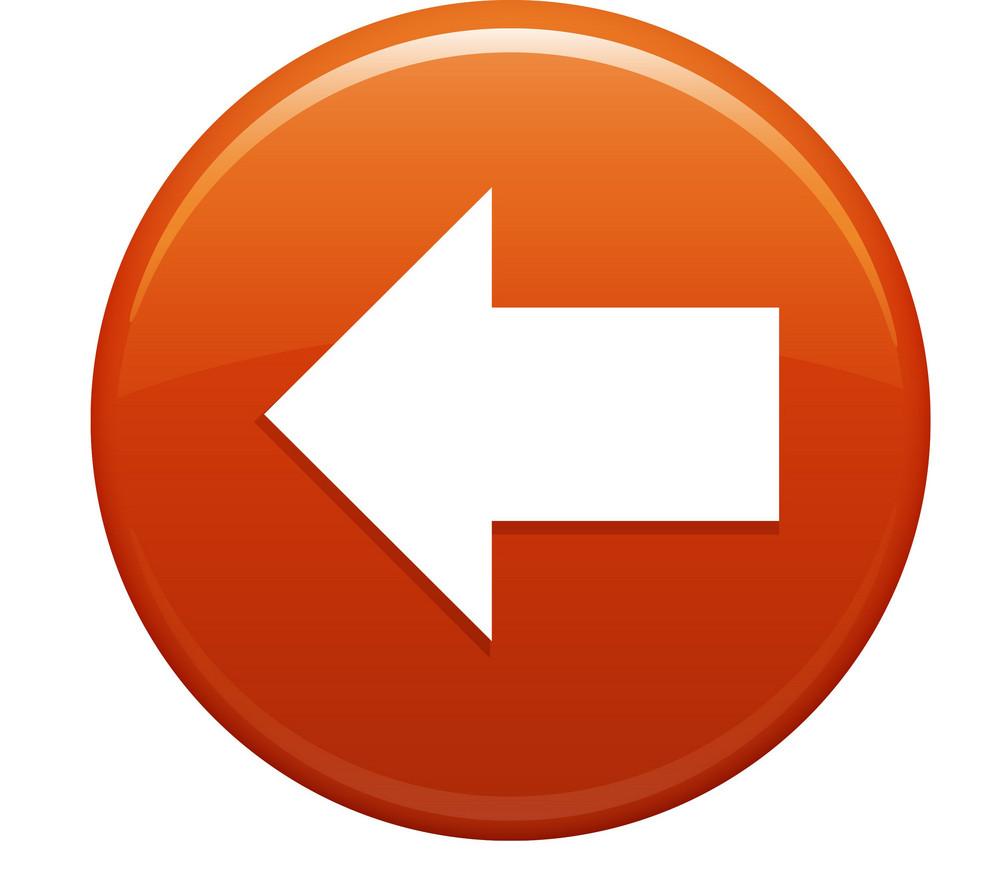 Previous Arrow Orange Circle