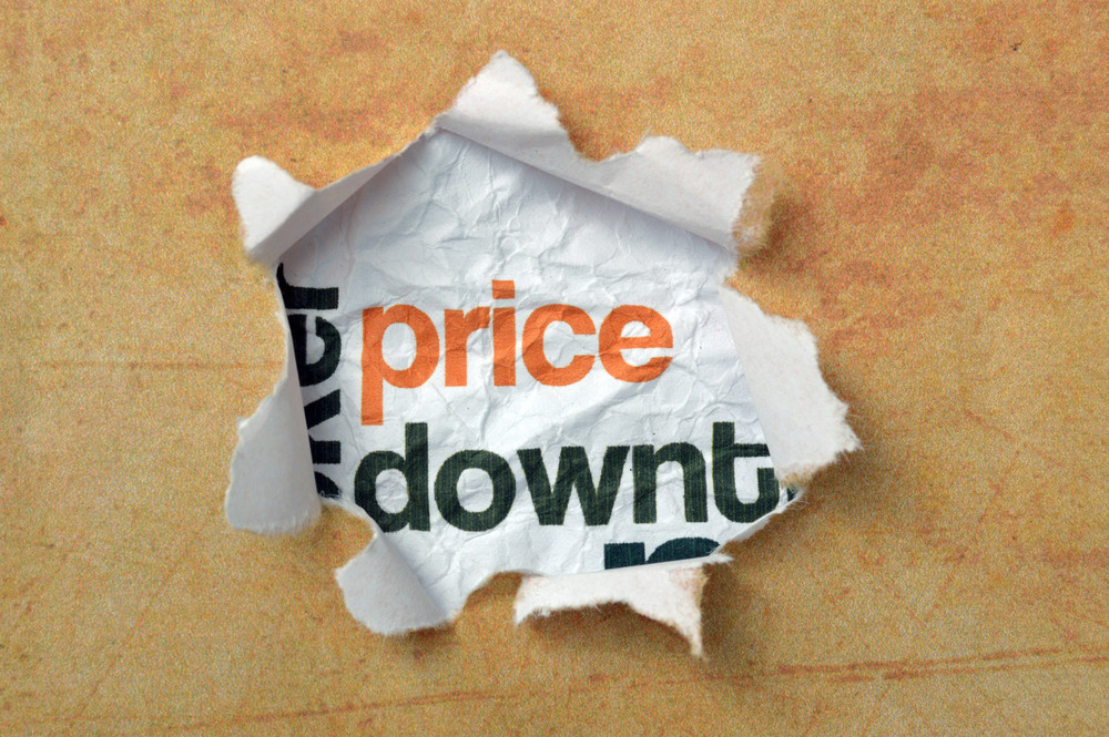 Price Text On Paper Hole